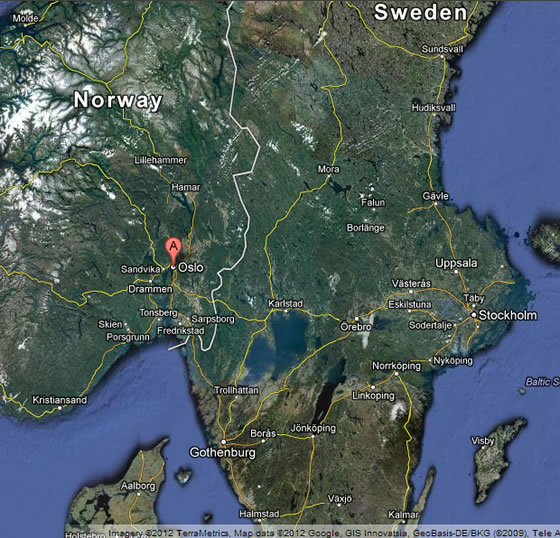 About City Of Oslo In Norway - Norway map hamar